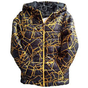 Куртка подростковая 8-12 лет +желтый Оптом 1707-2