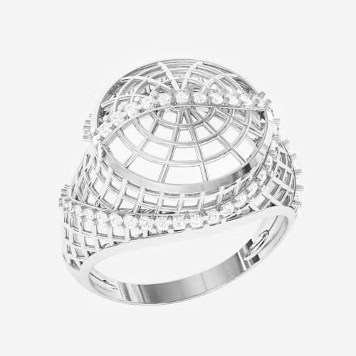 Кольцо  женское серебряное Плетенка ВКЕ 1583