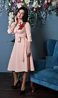 Красивое женское платье с юбкой клеш, фото 1