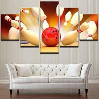 Шары для игры в боулинг Unframed Wall Art Canvas Paintings 1штука :8*20,2 штуки :8*12,2 штуки :8*16 дюймов( бес канта )