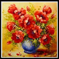 NAIYUE AE0072 Цветочная ваза Животная печать Ничья Алмазная живопись Алмазная вышивка Красный
