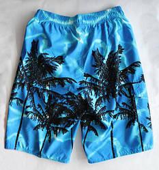 Шорты мужские пляжные , пальмы