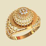 Кольцо  женское серебряное Плетенка ВKE1481, фото 2
