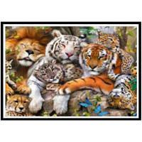 NAIYUE K030 Тигр Леопард Лев Животный Печать Ничья 5D Алмазная живопись Алмазная вышивка
