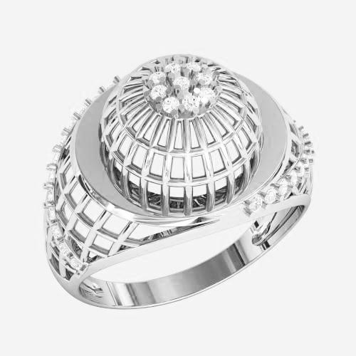 Кольцо  женское серебряное Плетенка ВKE1481