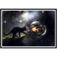 NAIYUE K060 Черная кошка Живопись для печати Ничья 5D Алмазная живопись Алмазная вышивка