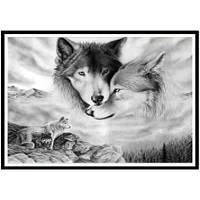 NAIYUE 9537 Двуручная животная печать для рисования Алмазная живопись Алмазная вышивка