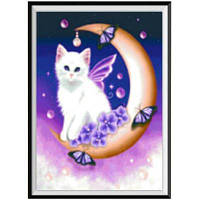 NAIYUE 9741 Лунная кошка Живопись для рисования Алмазная живопись Полная бриллиантовая вышивка