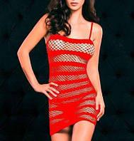 Эротическое платье-сетка Красный