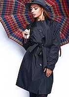 Черный плащ женский , стильный модный