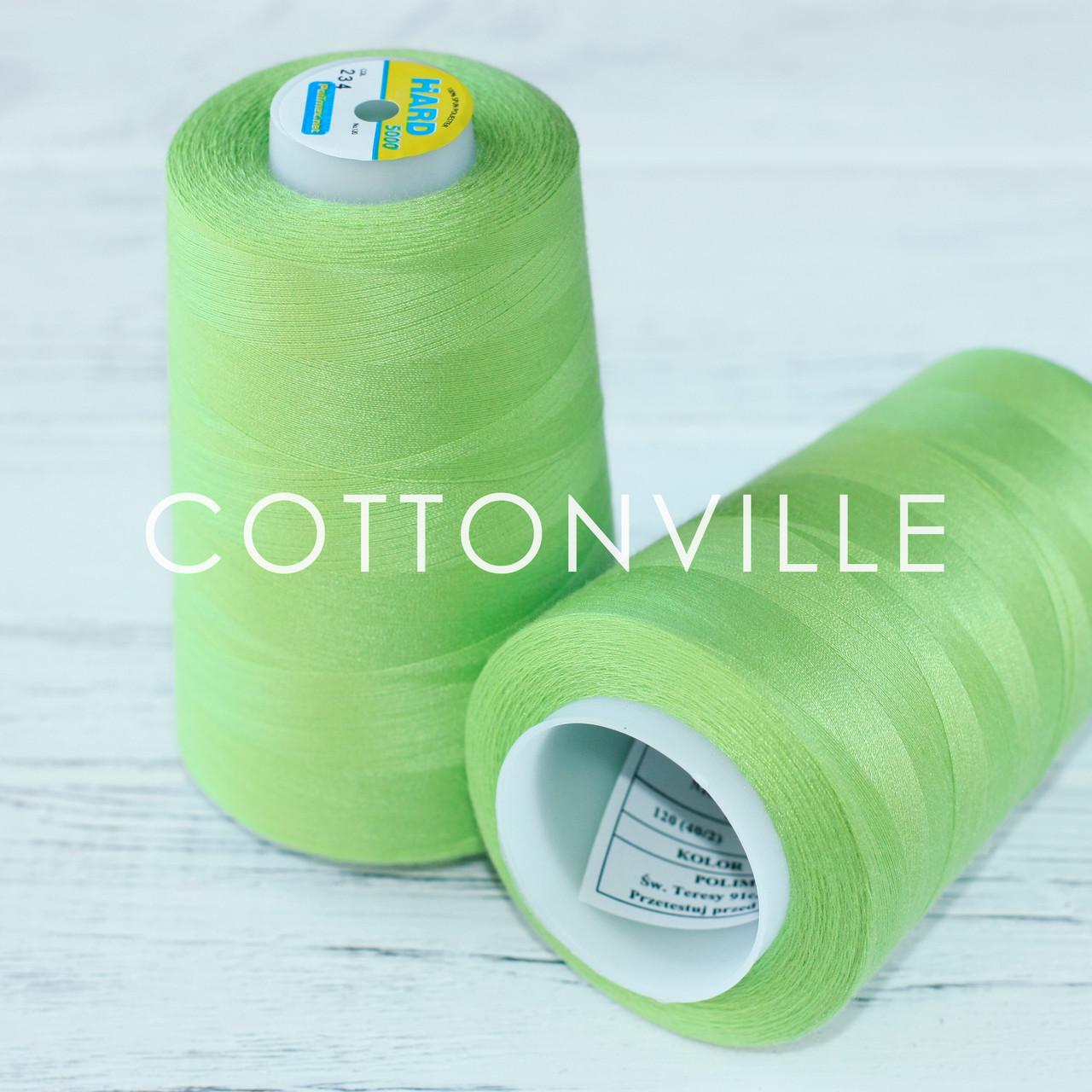 Нитки швейные 40/2 прочные (5000Y) цвет светлый зеленый