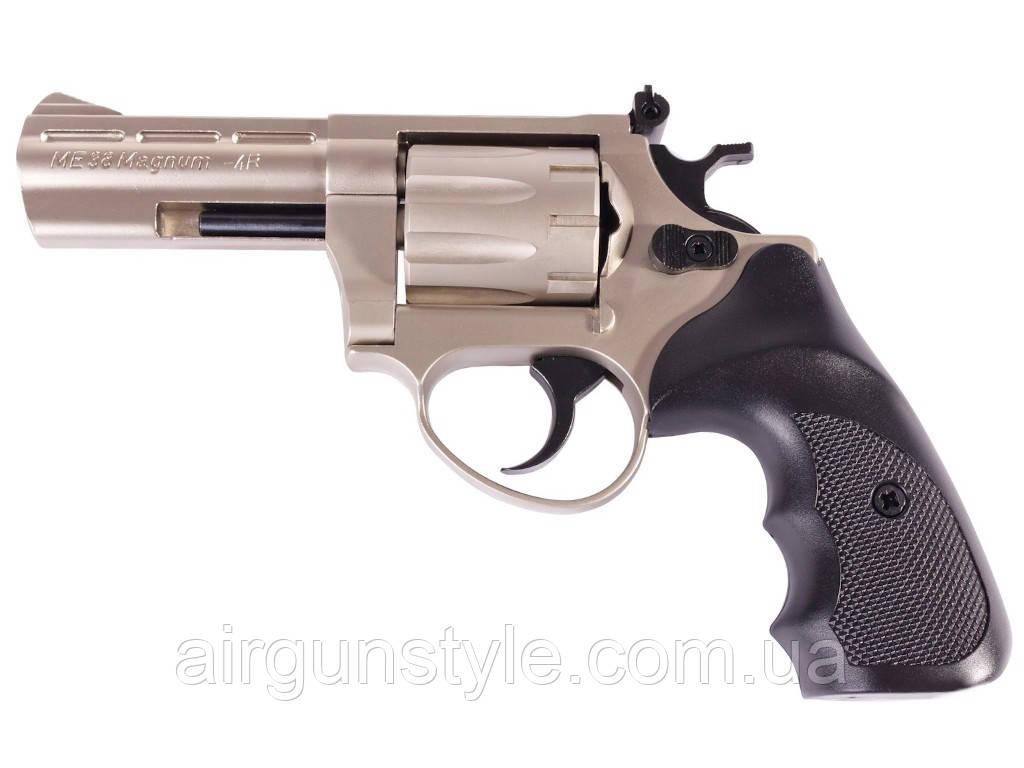 Револьвер под патрон Флобера Cuno Melcher ME 38 Magnum 4R (никель, пластик)