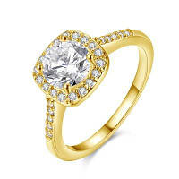 Кольца обручальные 18K розовое золото покрынные роскошные сияющие юбилейные подарки 8