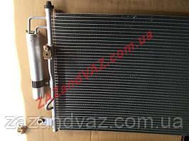 Радіатор кондиціонера конденсатор Aveo Авео алюмінієво-паяний з ресивером Shin Kum 96834083