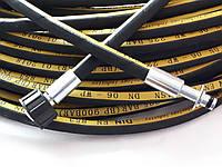 Шланг высокого давления 35 метров для профессиональных автомоек Karcher Гайка-Штуцер 10мм 1SN06