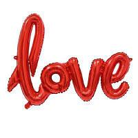 YEDUO Ligatures LOVE Letter Foil Balloon Anniversary Wedding Valentines Party Украшение Кубок шампанского Фото Бут Prop Красный