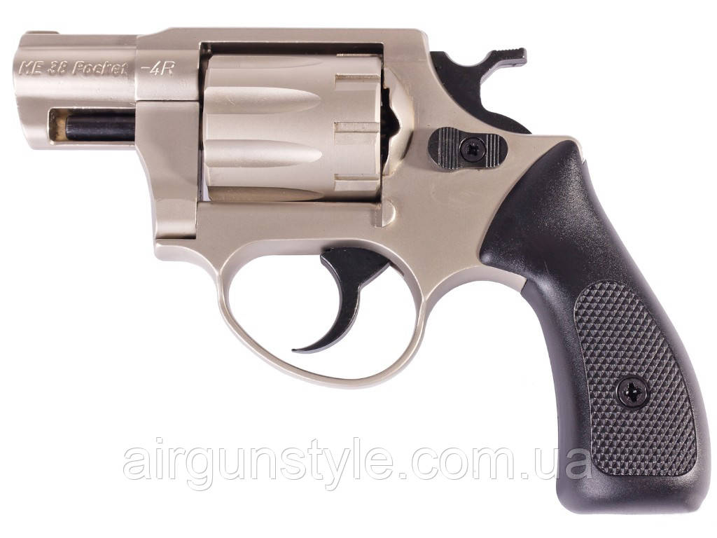 Револьвер под патрон Флобера Cuno Melcher ME 38 Pocket 4R (никель, пластик)