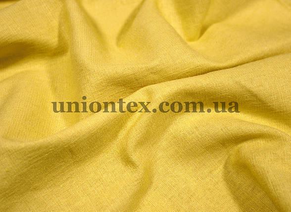 Ткань лён стрейчевый желтый, фото 2