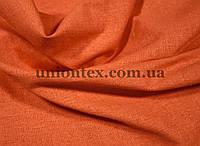 Ткань лён стрейчевый оранжевый