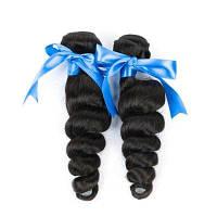 2 комплекта необработанного бразильского бразильского волнообразного человеческого волоса-натурального черного 24х26 дюймов