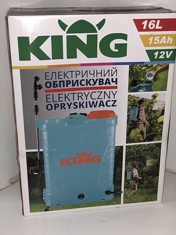 Опрыскиватель аккумуляторный KING 12ah 16 Л, фото 2