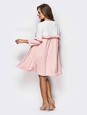 Романтичне двокольорове плаття, фото 2