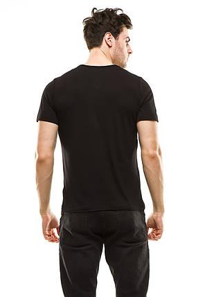 Футболка мужская 388 черная, фото 2