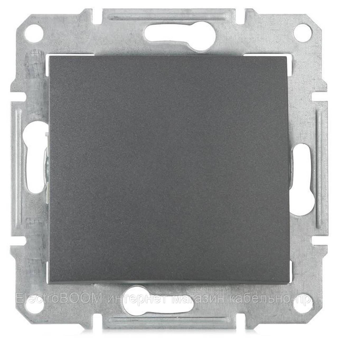1-клавишный выключатель Schneider Sedna Графит (SDN0100170)