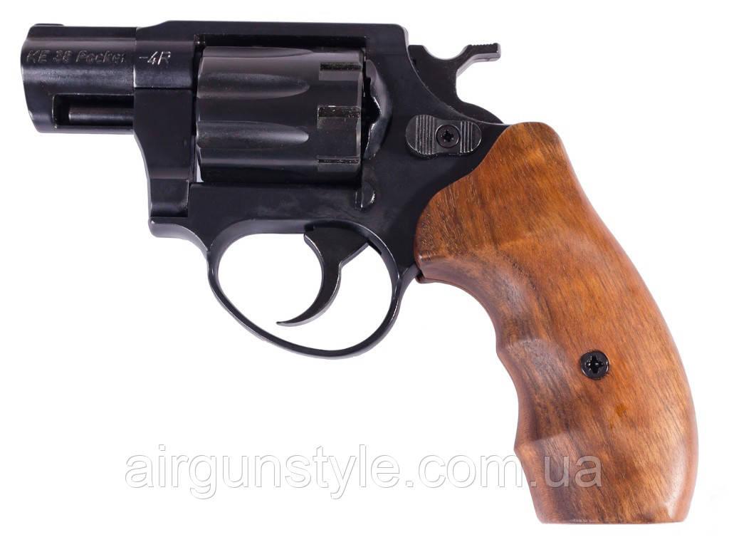 Револьвер под патрон Флобера Cuno Melcher ME 38 Pocket 4R (черный, дерево)