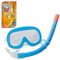 Детский набор для плаванья маска с трубкой от 3 до 6 лет