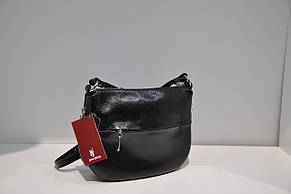 Сумка клатч кожаная черная женская Assa 0071-1146 , фото 2
