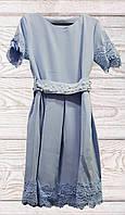 Платье подростковое с бусинками до 158 размера