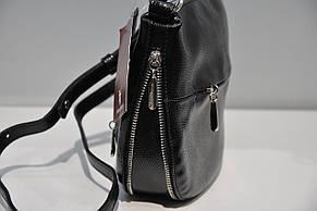 Сумка клатч кожаная черная женская Assa 0071-1146 , фото 3