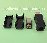 Штекер mini USB разборной на кабель для пайки, фото 2