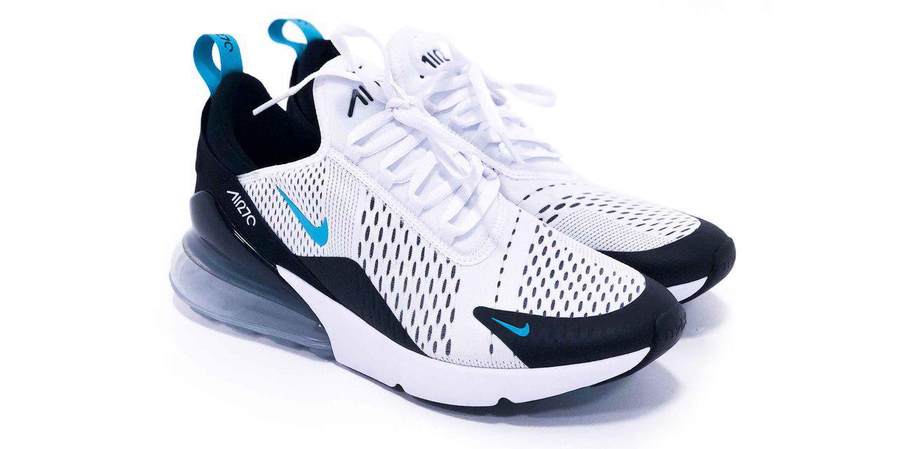 8693c6af Мужские кроссовки Nike Air Max 270 (в стиле Найк Аир Макс) бело-черные