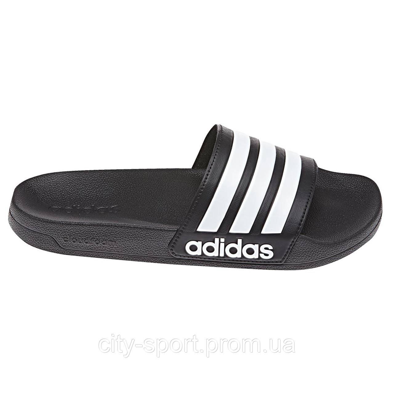 ab6c0a48f Пантолеты Adidas neo Cloudfoam Adilette Slides Core Black   Ftwr White    Core Black AQ1701 -