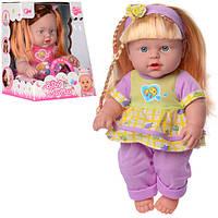 Кукла 238-G, 33см, звук, 2вида, на бат-ке(табл), в кор-ке,19-24,5-16,5см