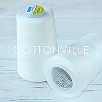 Нитки швейні 40/2 міцні (5000Y) колір молочно - білий