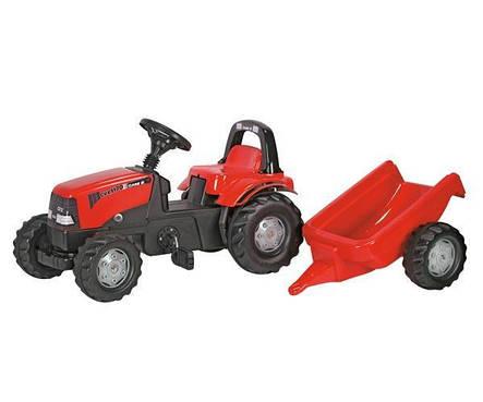 Трактор педальный с прицепом Case Rolly Toys 012411, фото 2