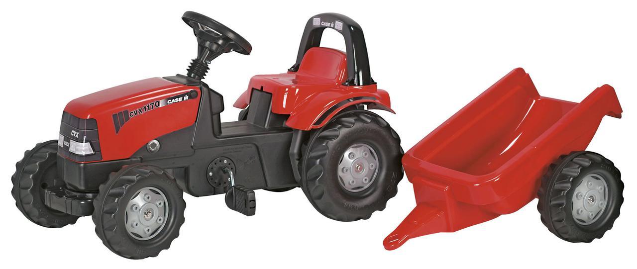Трактор педальный с прицепом Case Rolly Toys 012411