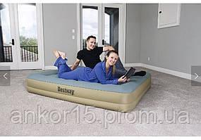 Велюр кровать BESTWAY 69007 со встроенным насосом