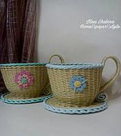 Подарок для всех Чашка для сладостей плетеная, фото 1