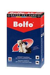 BOLFO - ошейник от блох и клещей для собак, 35 см.Bayer