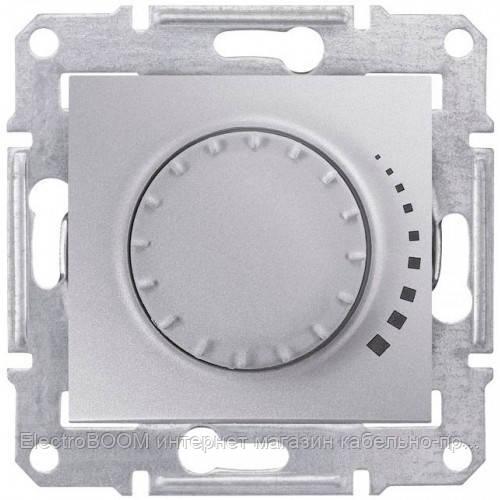 Светорегулятор поворотный емкостный Schneider Sedna Алюминий (SDN2200460)