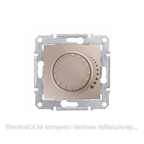 Светорегулятор поворотный емкостный Schneider Sedna Титан (SDN2200460)