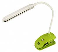 Настольная лампа светодиодная аккумуляторная с зажимом