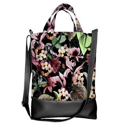 Жіноча сумка з короткою та довгою ручкою, фото 2
