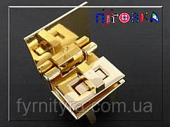 Замок 089 для сумок поворотный с крышкой золото