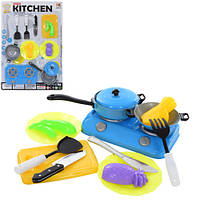 Посуда 1002-3 (72шт) плита, сковородка, кухон. набор, продукты, на листе,26,5-38,5-3см