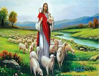 """Набор алмазной вышивки """"Иисус добрый пастырь"""""""